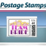 bridal shower postage stamps