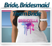 tank top bride bridesmaid team bride
